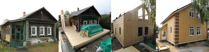Реконструкция дома с применением SIP панелей