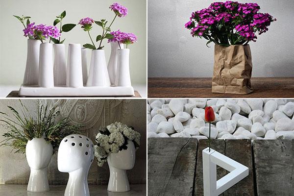 Оригинальные дизайнерские вазы для цветов