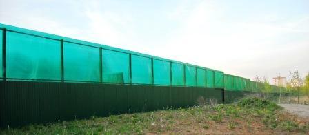забор из профнастила и поликарбоната