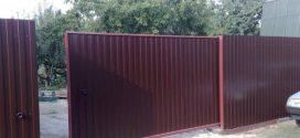 Откатные ворота для дачи: за и против