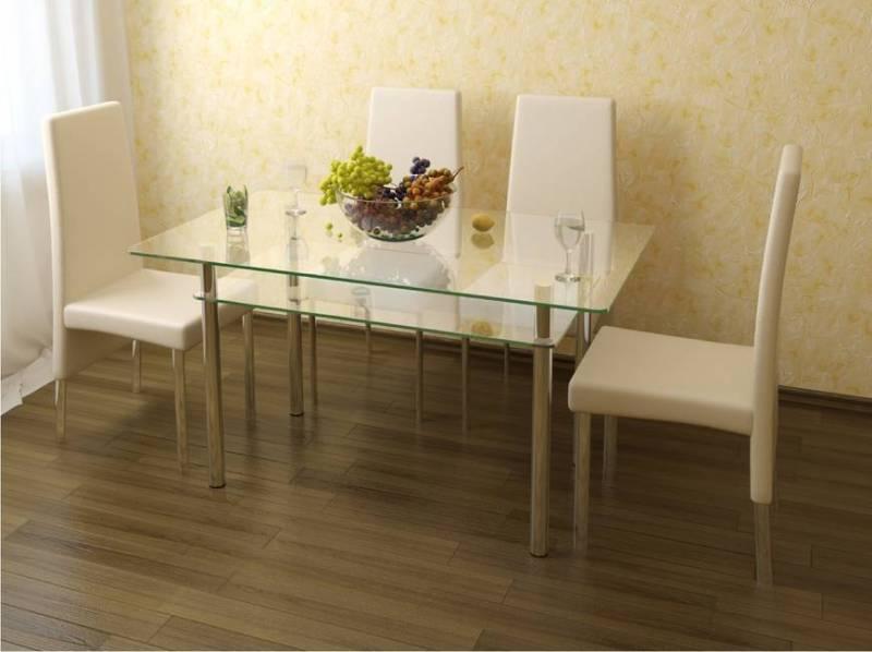 Стеклянный стол на кухню