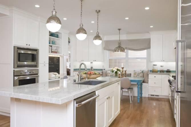 Подвесные светильники для кухни в интерьере