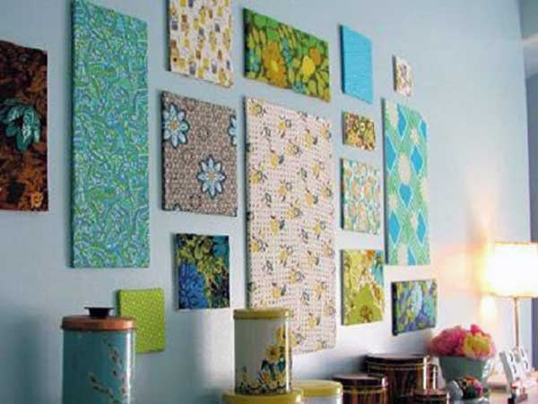 Декор стен картинами из ткани