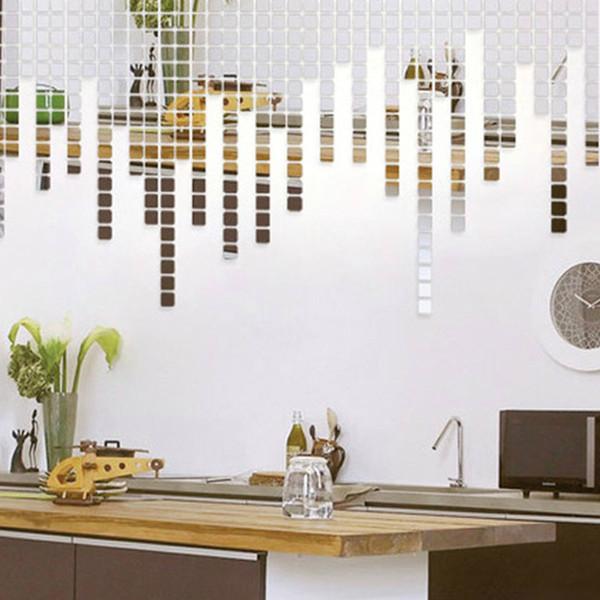 Декор стен зеркальная мозаика