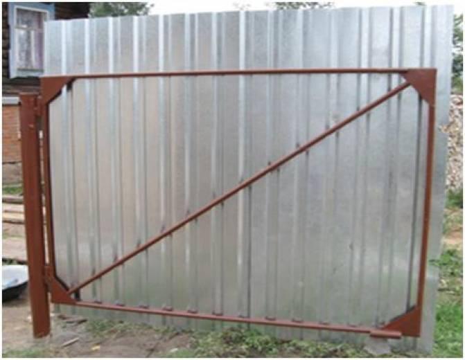 Ворота из круглой трубы