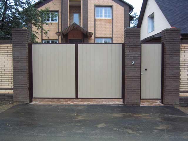ворота для дачи из профнастила