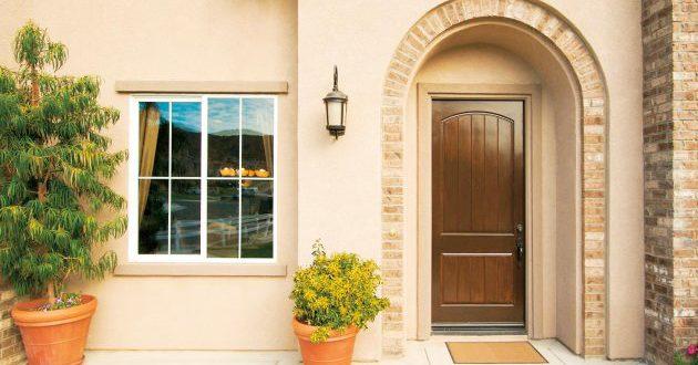 двойная входная дверь в частный дом купить