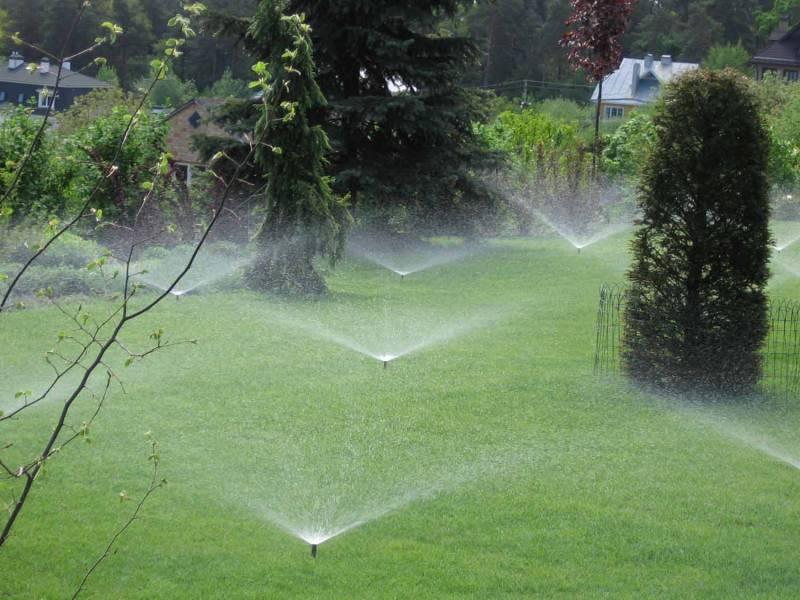 Дождевальная система автоматического полива на даче