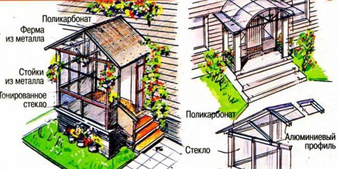 Строительство закрытого крыльца к дому