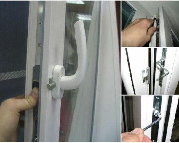 порядок регулировки створок пластикового окна