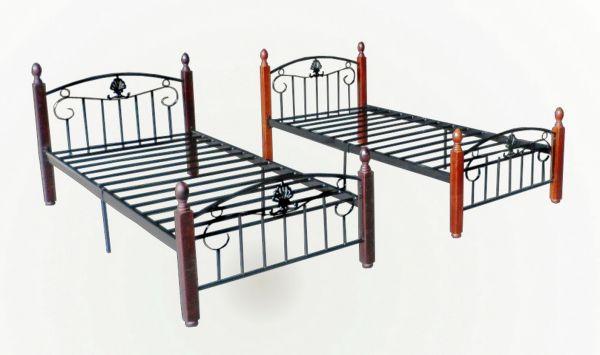 Кровать 1-спальная, металлическая
