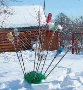Из чего можно сделать елку для сада