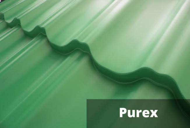 Полимерное покрытие металлочерепицы Пурекс (Purex)