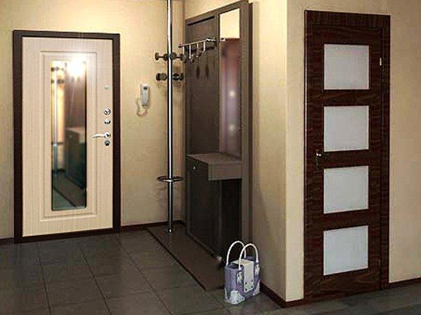 входные двери металлические зеркало