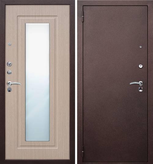 Двери входные металлические с зеркалом