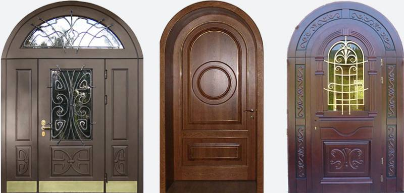 Арочные входные двери