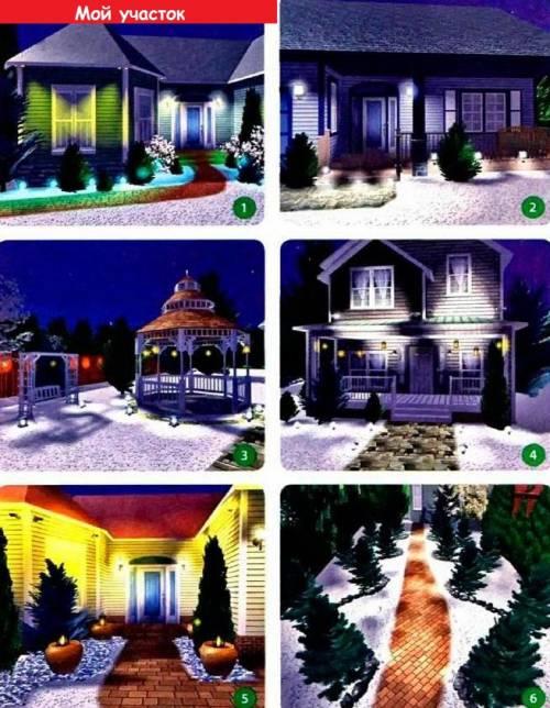Украшаем дом зимой светом!