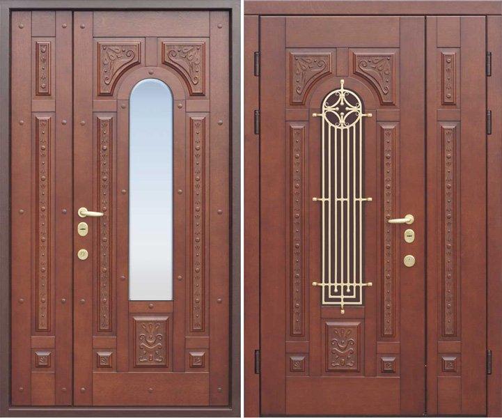 наружние входные металлические двери