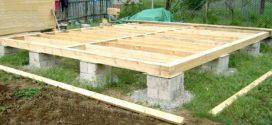 Устройство фундамента деревянной террасы