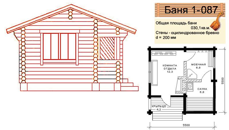 Как построить баню в доме