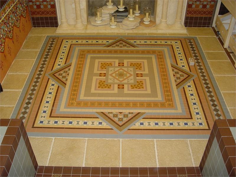 Удобная мозаичная плитка-коврик