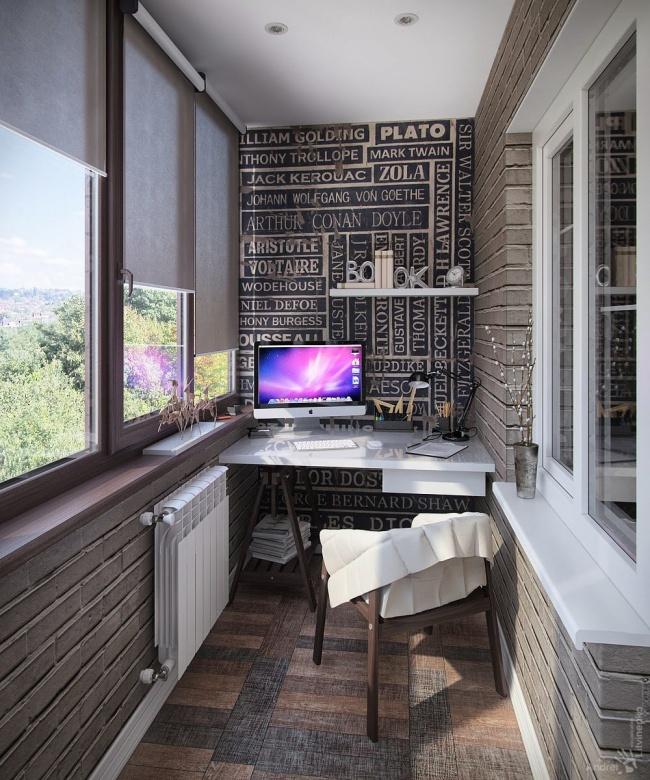 Как сделать кабинет на балконе