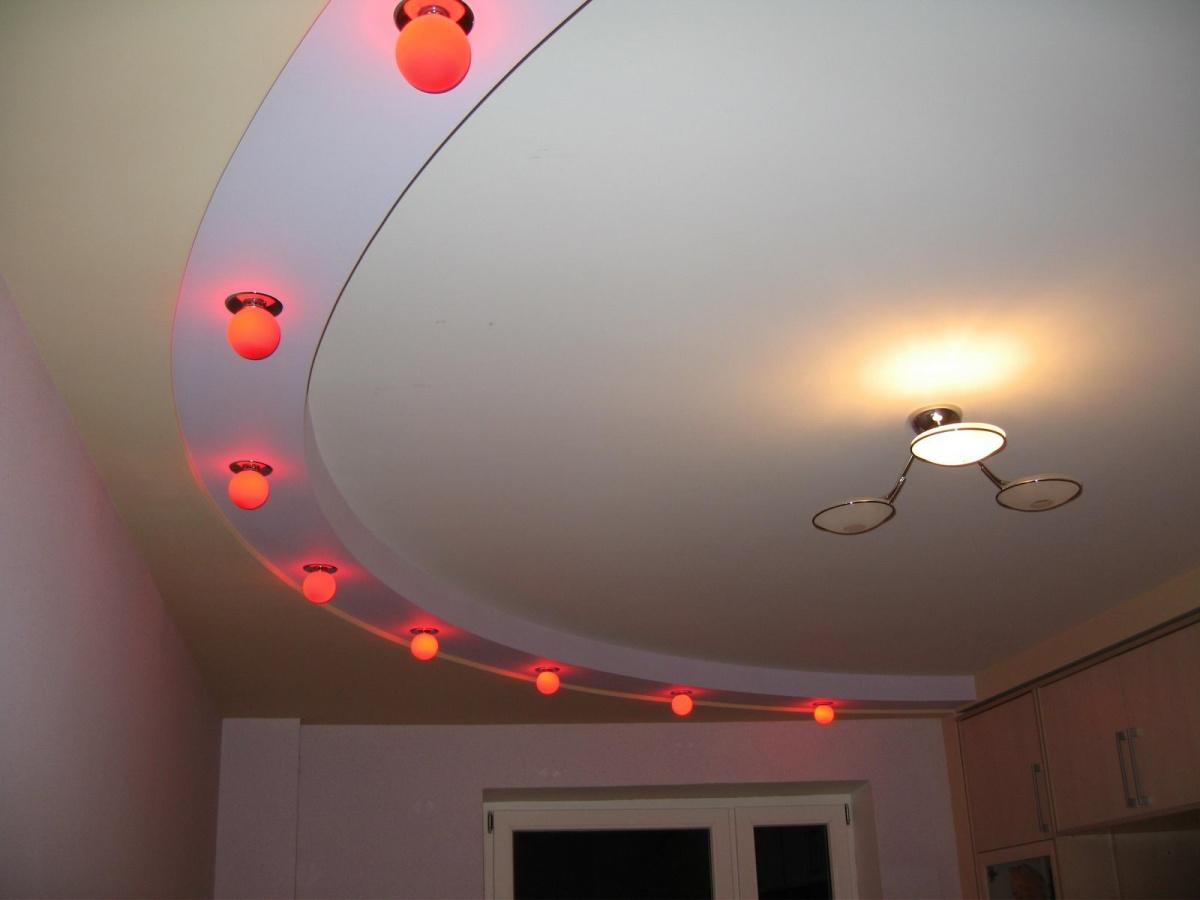 Подвесные потолки из ГКЛ