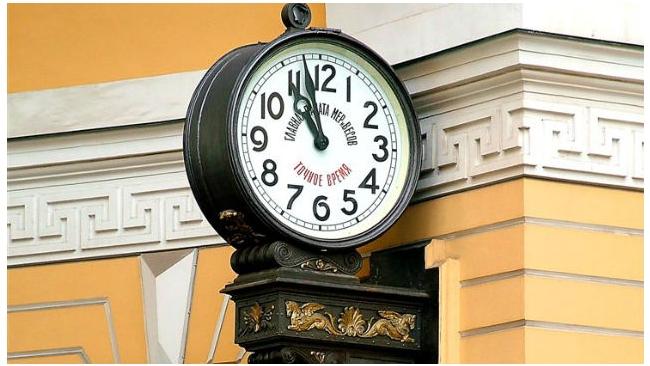 Уличные часы – украшение площадей