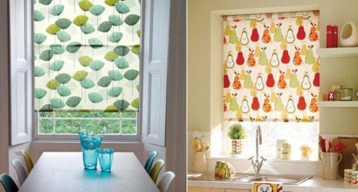 Моменты при выборе штор на кухню