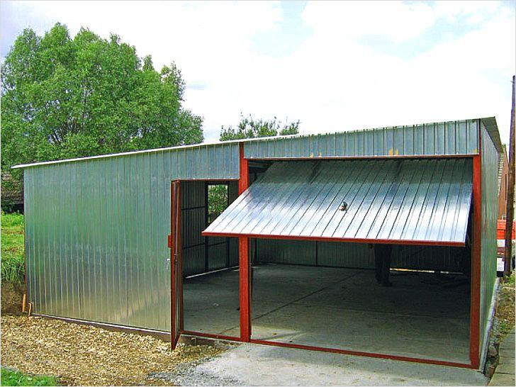 Панели из оцинкованной стали для гаража