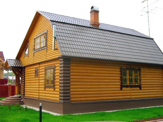 Блок-хаус обшивка дома