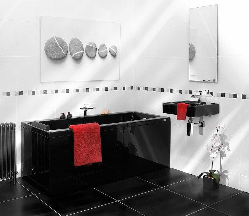 Популярность черного цвета в ванной