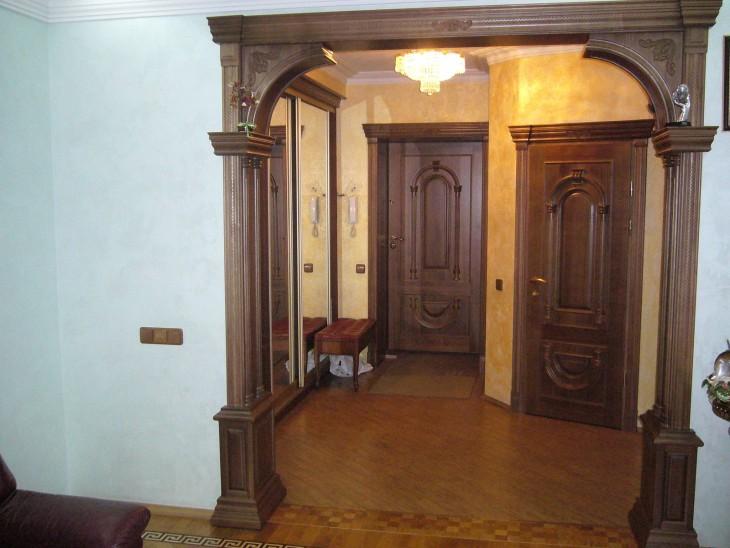 Дверной проём в виде арки, оформление дверного проёма