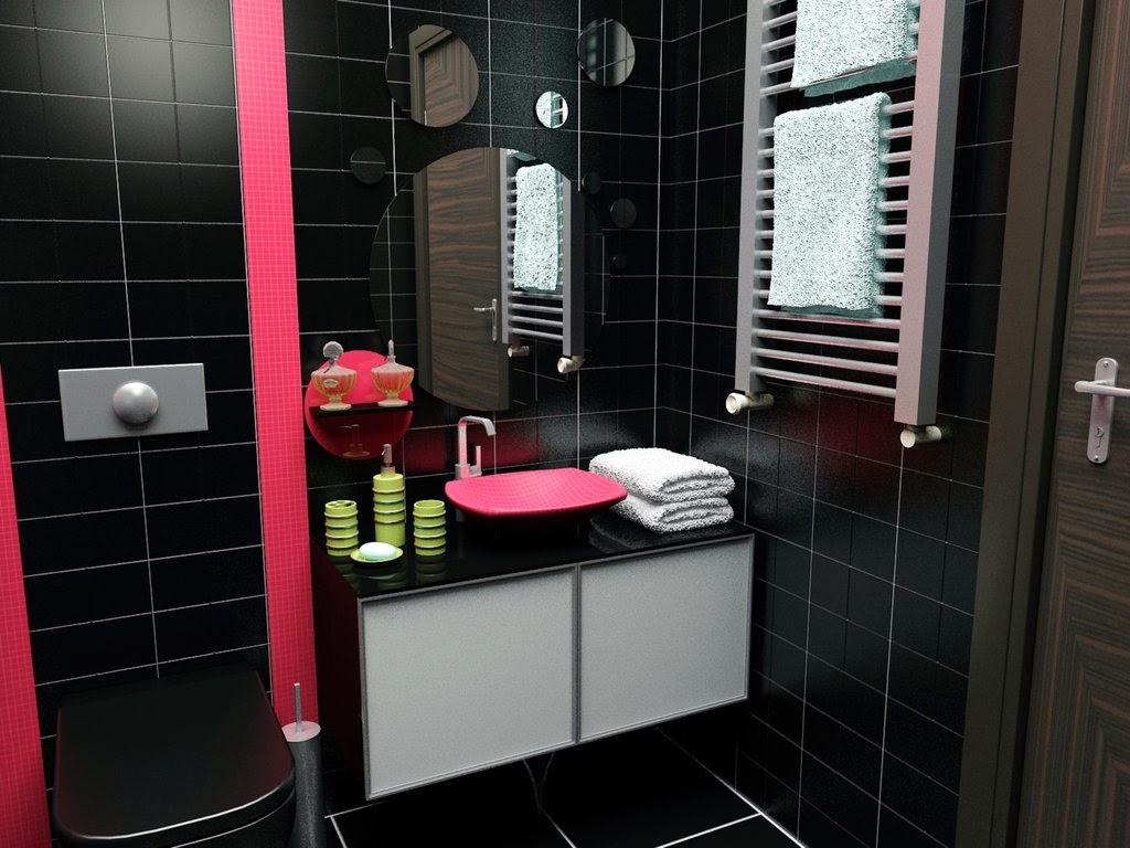 Черный в интерьере ванной