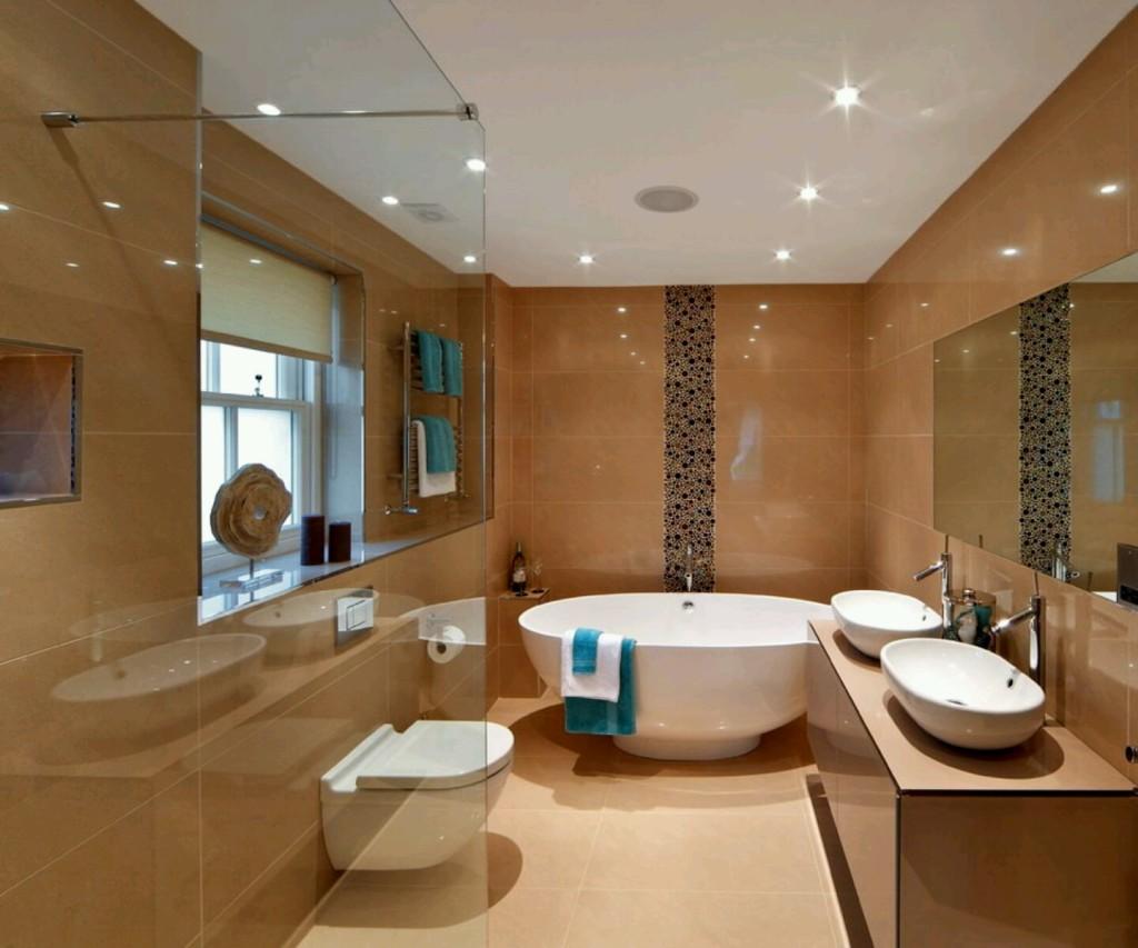 Освещение больших ванных комнат