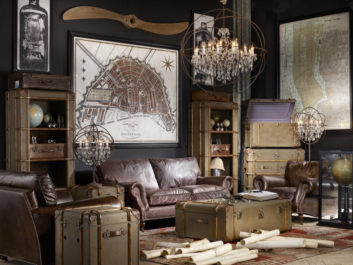 Поверхность винтажных предметов мебели