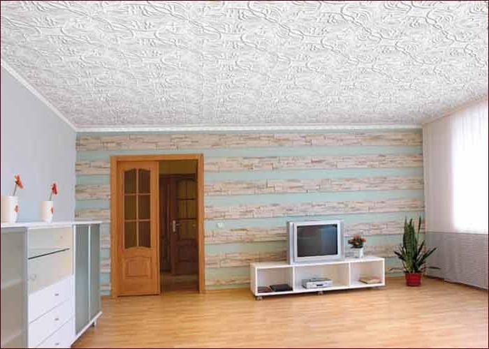 Три способа клеить потолочную плитку