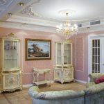 Потолки в интерьере стиля рококо