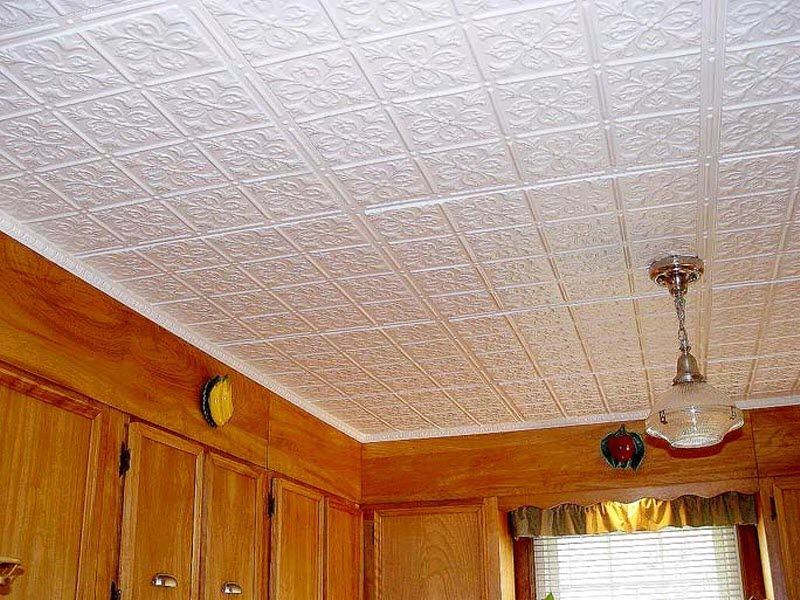 How to glue ceiling tiles